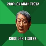 200% on Math Test? Good Job, I Guess
