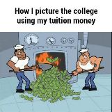 How I Picture The College Using My Tuition
