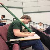 Huge Pencil During An Exam