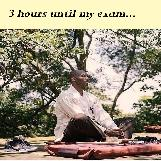 Meditating before an exam