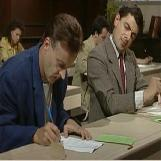 Mr. Bean Cheating on Exam