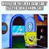 SpongeBob Finishing his Exam Early