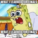 What I Learned For Finals Is...