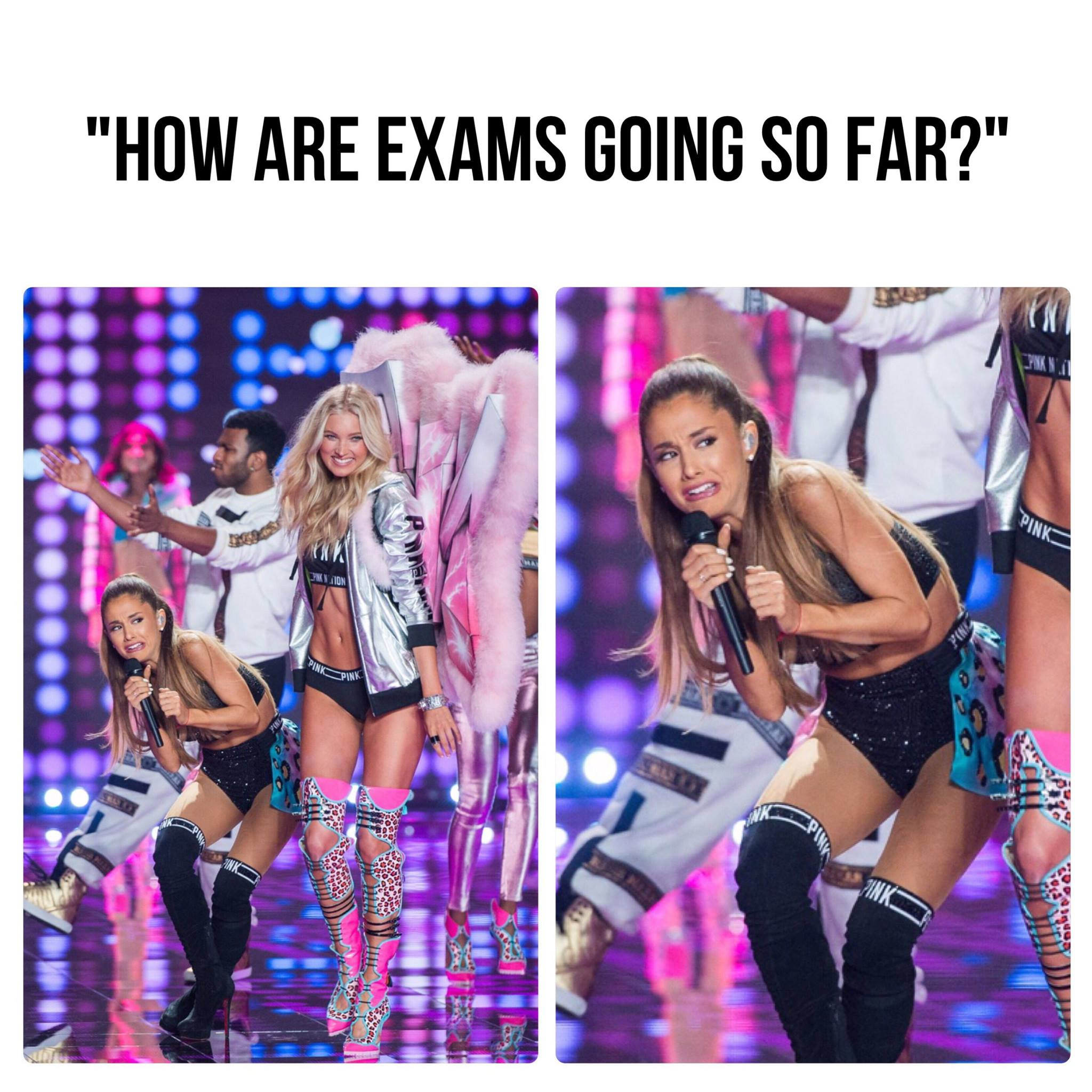 Ariana Grande When Someone Asks Her How Exams Are Going