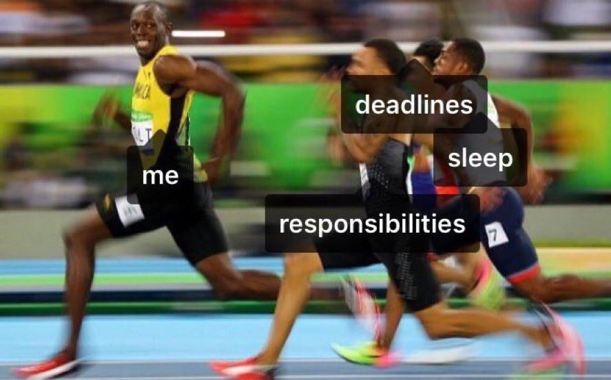 I'm as fast as Usain Bolt