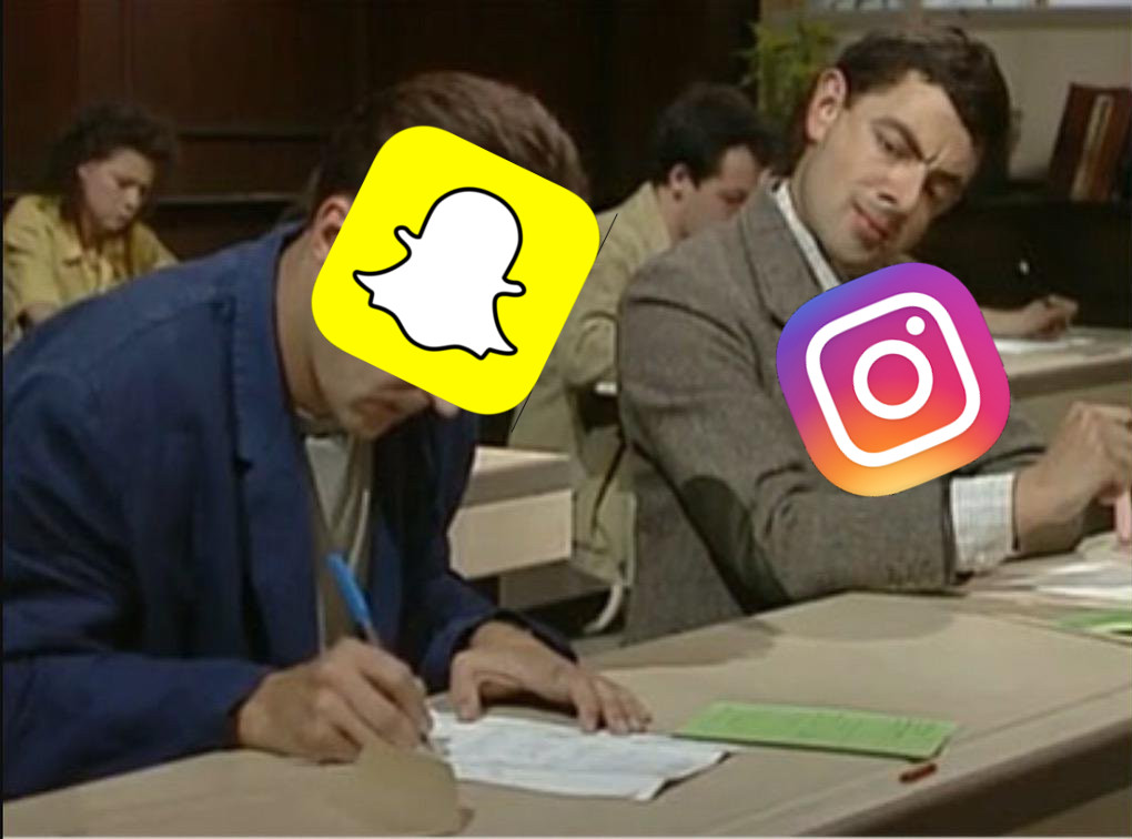 Instagram and Snapchat in a Final Exam