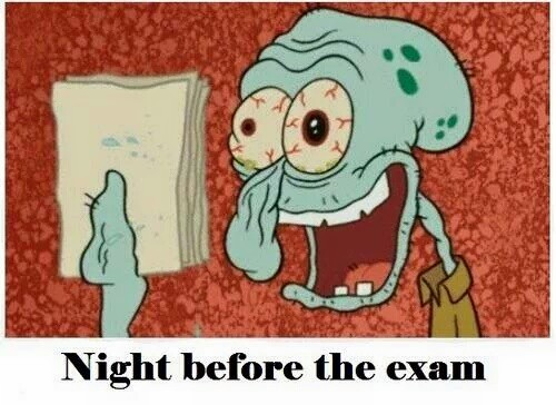 night before exams