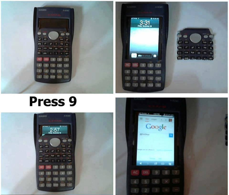 Phone In Calculator Exam Cheat Memes